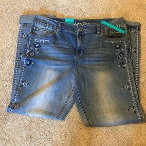 INC Embroidery & Studs Skinny Leg Jeans-14